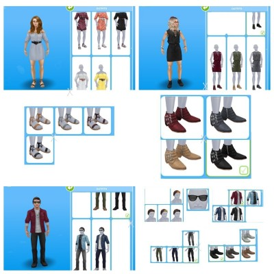 Outfits from Online Store for everyone/separated